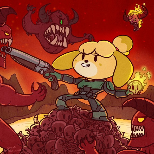 animal crossing x doom eternal memes